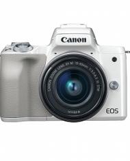 Máy Ảnh Canon EOS M50 + Kit 15-45mm - Trắng (Nhập Khẩu)